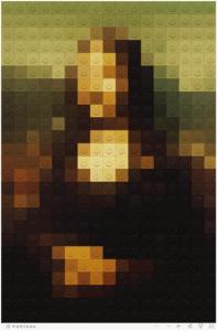 Lego Mona Lisa Tableau Art
