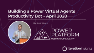 Building a Power Virtual Agents Productivity BOT