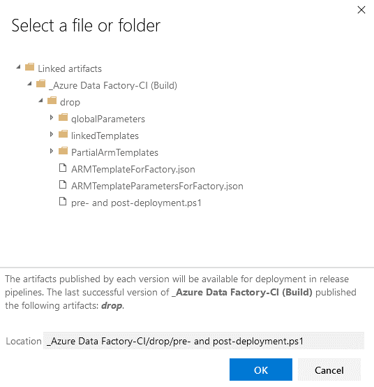select a file window