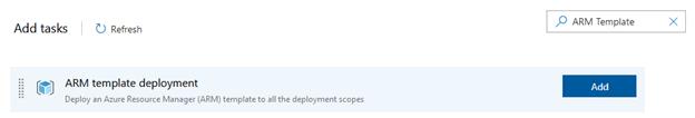 ARM template deployment add task