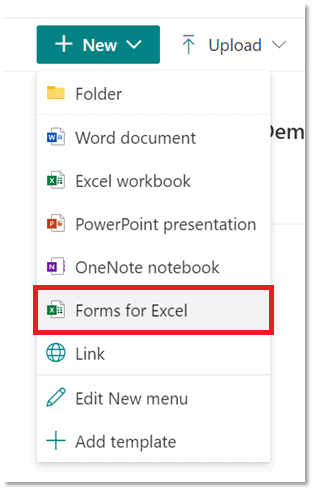 The +New drop down menu, select the first option